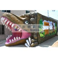 Outdoor Thrilling 5D theater system dinosaur box for adults , Mobile Immersive 7D Cinema Manufactures