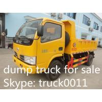 small 4x4 dongfeng LHD dump truck 1 cbm to 5 cbm tipper truck for sale, hot  sale all wheels drive dongfeng dump tipper Manufactures