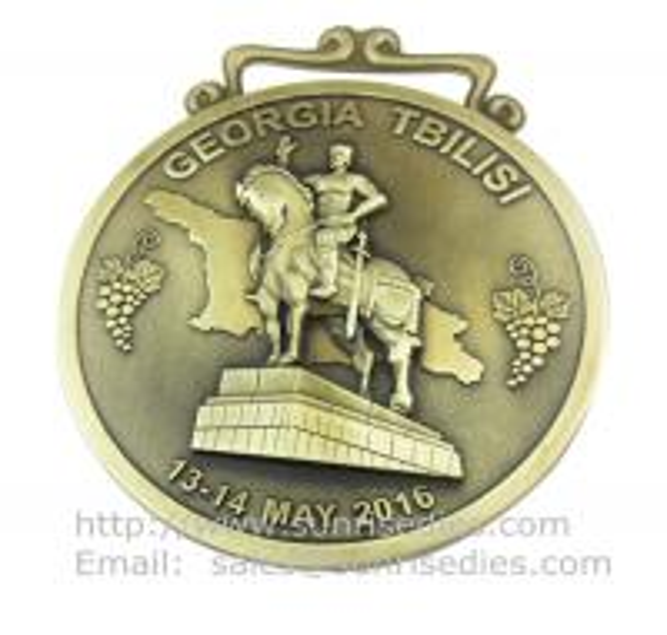 embossed 3D Engraved metal medallion maker