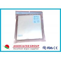 Quality Cleansing Disposable Dry Wipes Spunlace Fabric Material High Tensile Strength for sale