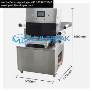 China MULTEPAK Semi-Auto Vacuum Skin Packaging   Machine for seafood fish meat beef salmon on sale