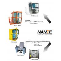 White / Red Overhead Crane Cabin With Adjustable Seat / Joystick Manufactures