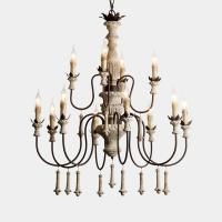 Buy cheap Wood and brushed nickel chandelier for Kitchen Bedroom (WH-CI-55) from wholesalers
