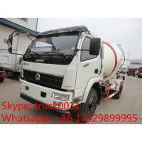 Quality factory sale best price Dongfeng duolika 4*2 LHD 5cbm concrete mixer truck, for sale