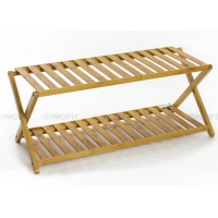 Foldable Length 70cm 5KG Shoe Rack Made Of Bamboo Manufactures