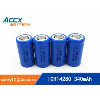 high quality icr14280 LED Lighting lithium battery 3.7V 340mAh 14280 rechargeable li-ion battery Manufactures