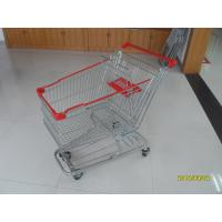 Quality 125L Supermarket Shopping Trolley With 4 Swivel Flat Casters 941x562x1001mm for sale