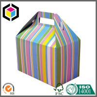 Custom Print CMYK Full Color Paper Box; Gable Shape Matte Color Gift Paper Box Manufactures