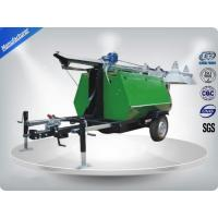 Portable LED Light Towers / Telescoping Mast Trailer Mounted Light Towers Manufactures