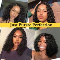 Black Human Hair Lace Front Human Hair Wigs 13x6 Lace Area Water Wave Manufactures