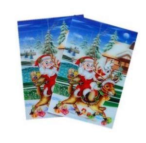 China PLASTIC LENTICULAR Christmas Greeting Cards 3D lenticular postcard 0.45 mm PET 3d postcard Animation effect postcard on sale