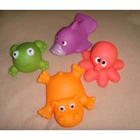 Soft Bath Rubber Squirt Water Toy Floating Ocean Animal Shaped 10cm Width Manufactures