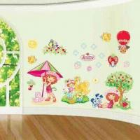 3-D Wall Decoration Stickers, Made of Non-toxic and Art Paper, Easy to Apply and Remove Manufactures