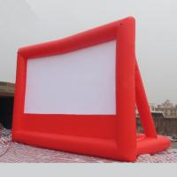 Quality 1 Year Warranty Red / Black Inflatable Movie Screen Fireproof For Play Movies for sale