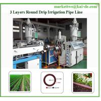 Round Drip Irrigation Pipe Punching Machine/16mm Drip Irrigation tube line Manufactures