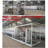 China 2018s mobile Lpg filling plant with gas storage tank  12.5tons skid lpg gas refilling station with digital scales on sale