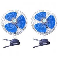 Blue And Silver Automotive Cooling Fans / Metal And Plastic Electric Radiator Fan Manufactures