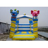 PVC Tarpaulin Castle Type Inflatable Elephant Castle / Jumping Bouncy Castle For Kids   Manufactures