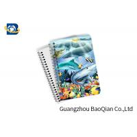 Eco Friendly Paper 3D Lenticular Notebook Ocean / Animal Pattern With Spiral Manufactures