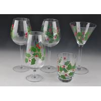 Colorful Decorated Hand Painted Glass Stemware For Martini Wine Manufactures
