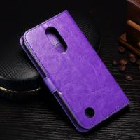 Quality Protective Leather Lg K8 Wallet Case , 5.3 Inch Lg K8 Flip Cover With Card Slot for sale
