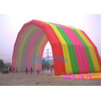 Special Rainbow Inflatable Arches Large Event Balloon Entrance Arch Manufactures