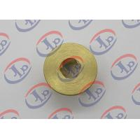 CNC Turning Brass Nut 0.717 In Outer Diameter With Hex Hole High Strength Manufactures