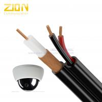 RG59 / 18AWG / 2C Video Coaxial Cable / CCA Braid Siamese Cable For HDCVI , UL CE Listed Manufactures