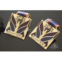 Royal 10K And 15K Custom Sports Medals Soft Enamel Color With Sublimated Ribbon Manufactures