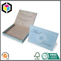 Light Blue Color Custom Print Paper Box; Fancy Paper Gift Packaging Box Manufactures