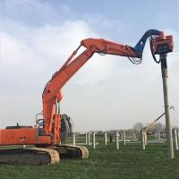 Precision Vibratory Pile Hammer Excavator Hydraulic Pile Driver 3000rpm Piling Equipment Manufactures