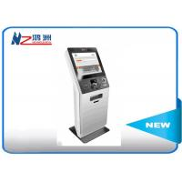 LED touch screen Hospital check in kiosk terminal with keyboard , white Manufactures