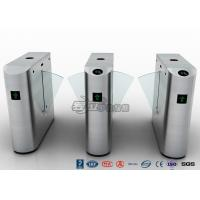 Pedestrian Control Electronic Flap Barrier Gate Acrylic Counter Turnstiles DC24V Manufactures