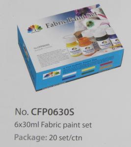 Washable Art Painting Colours Fabric Paint Set For Kids 6 X 30ml 6 Colors Per Set Manufactures
