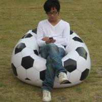 PVC Household Modern Inflatable Furniture Outdoor Football Sofa One Person Manufactures