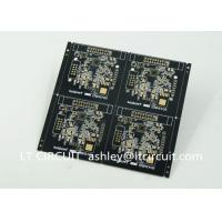 Black Solder Multilayer Printed Circuit Board Gold Plating Pannelized Fiducial Mask Manufactures