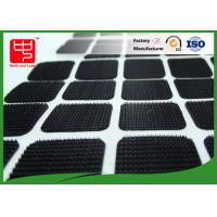 Black Color Nylon Square Adhesive hook and loop Patches With Round Corner Manufactures