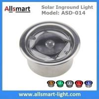 Round LED Accent light Solar Powered Marker Lights Swimming Pool Edge Lights Solar Dock Deck Lights Manufactures