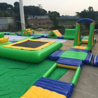 Quality Tarpaulin Inflatable Water Park / Inflatable Sport Games In Summer Vacation for sale
