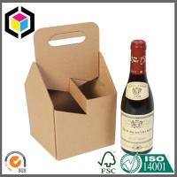 Four Pack Juice Bottle Carrier Corrugated Box; 4 Pack Corrugated Carrier Box Manufactures