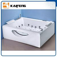 T Shape Inlet Electric Jacuzzi Whirlpool Bath Tub With Air Bubble Water Jets Manufactures