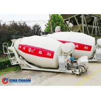 Drum Volumetric Mobile Mixer Truck , Steel Structure On Site Concrete Mixing Truck Manufactures