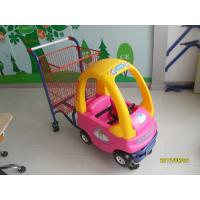 95L Plastic Children / Kids Shopping Carts With 4 Swivel TPE Caster Manufactures