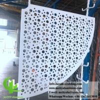 Sector Shape Metal Sheet Aluminum Panel 3mm PVDF Paint Finish ISO9000 Listed Manufactures