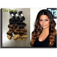"""3 Tone Color Virgin Peruvian Hair Extensions Loose Wave 12""""-28"""" Inch In Stock Fast Delivery Manufactures"""