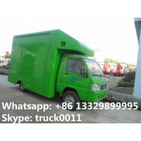 Quality Bottom price mini DongFeng mobile food truck for sale, cheapest price gasoline for sale