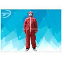 Polypropylene Spunbond Disposable Coverall Suit With Hood Waterproof Manufactures