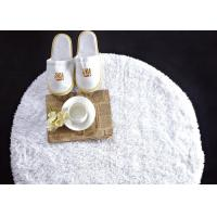 Washable White Waffle Disposable Spa Slippers , Disposable Hotel Bathroom / Guest House Slippers Manufactures