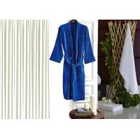 Colored Luxury Hotel Patterned Toweling Bath Robe , Womens Luxury Dressing Gown Manufactures