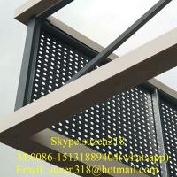 1/4 inch perforated aluminum sheet round hole / metal panels perforated building Manufactures